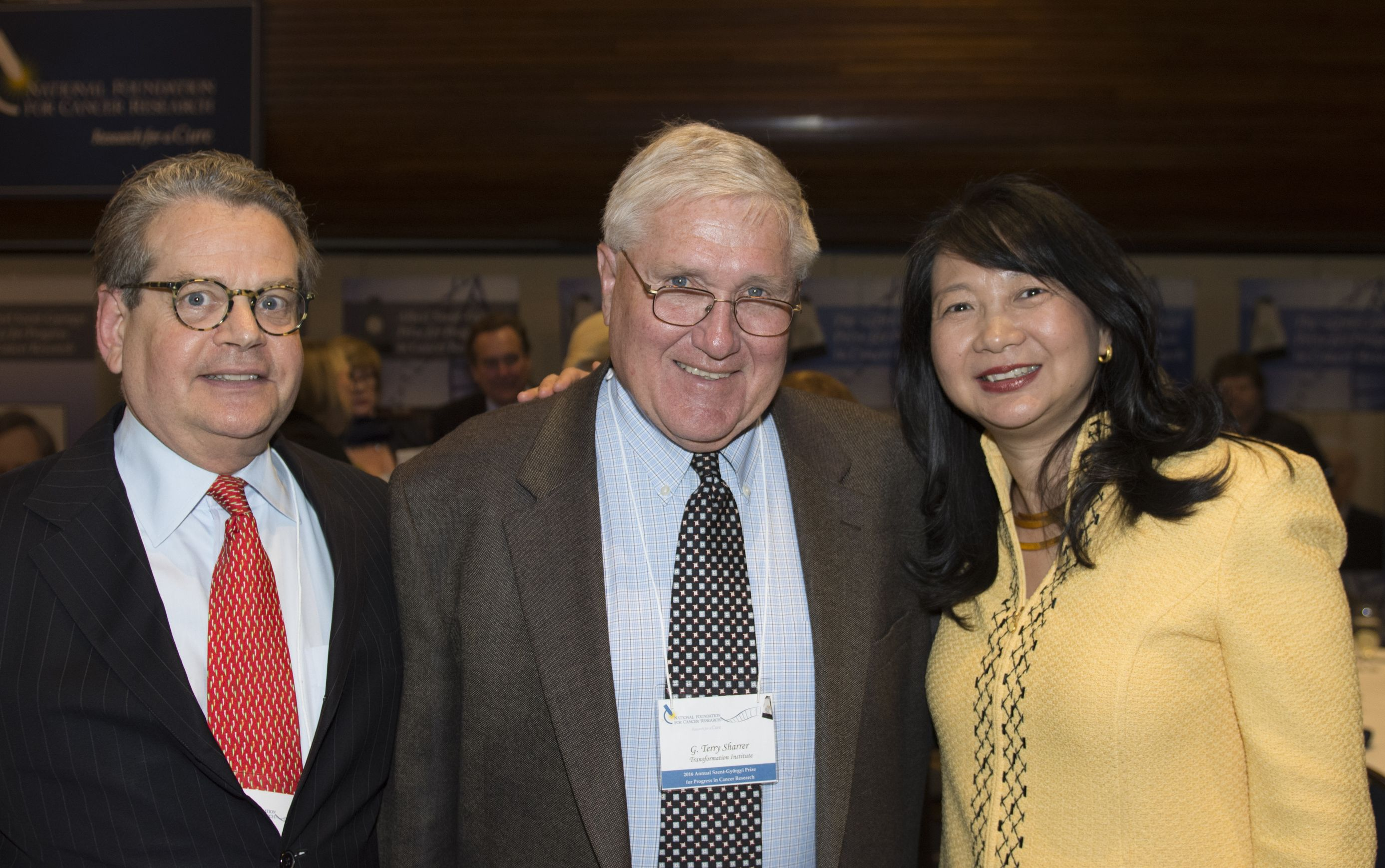 Long-time friends Franklin Salisbury, Terry Sharrer, and Dr. Sujuan Ba enjoy their reunion