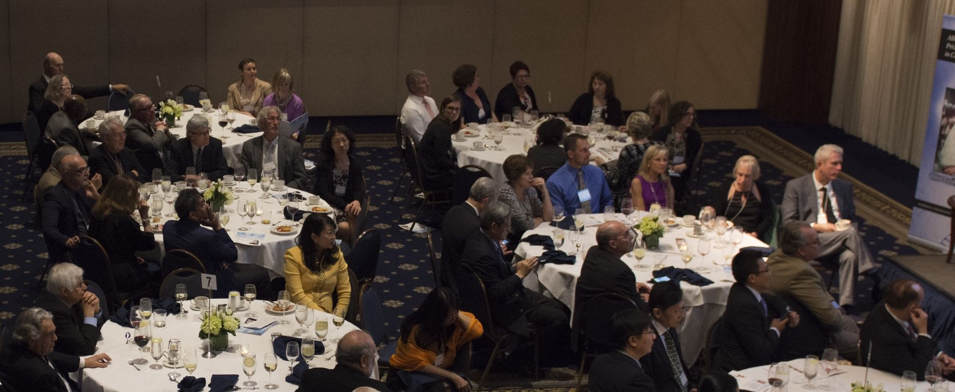 Some of our distinguished guests appreciating the dinner program