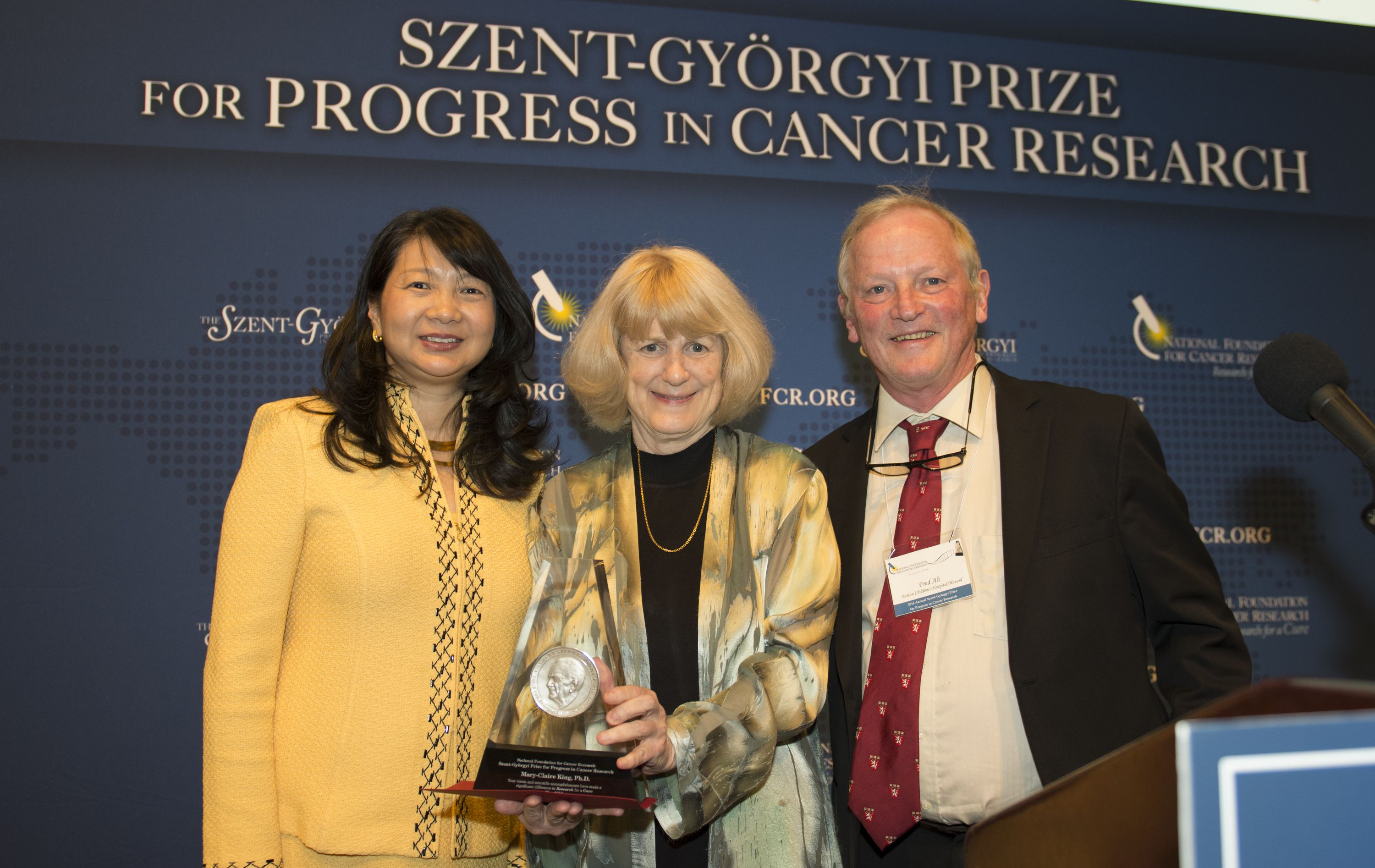 Dr. King accepts the Szent-Gyorgyi Prize with great pleasure