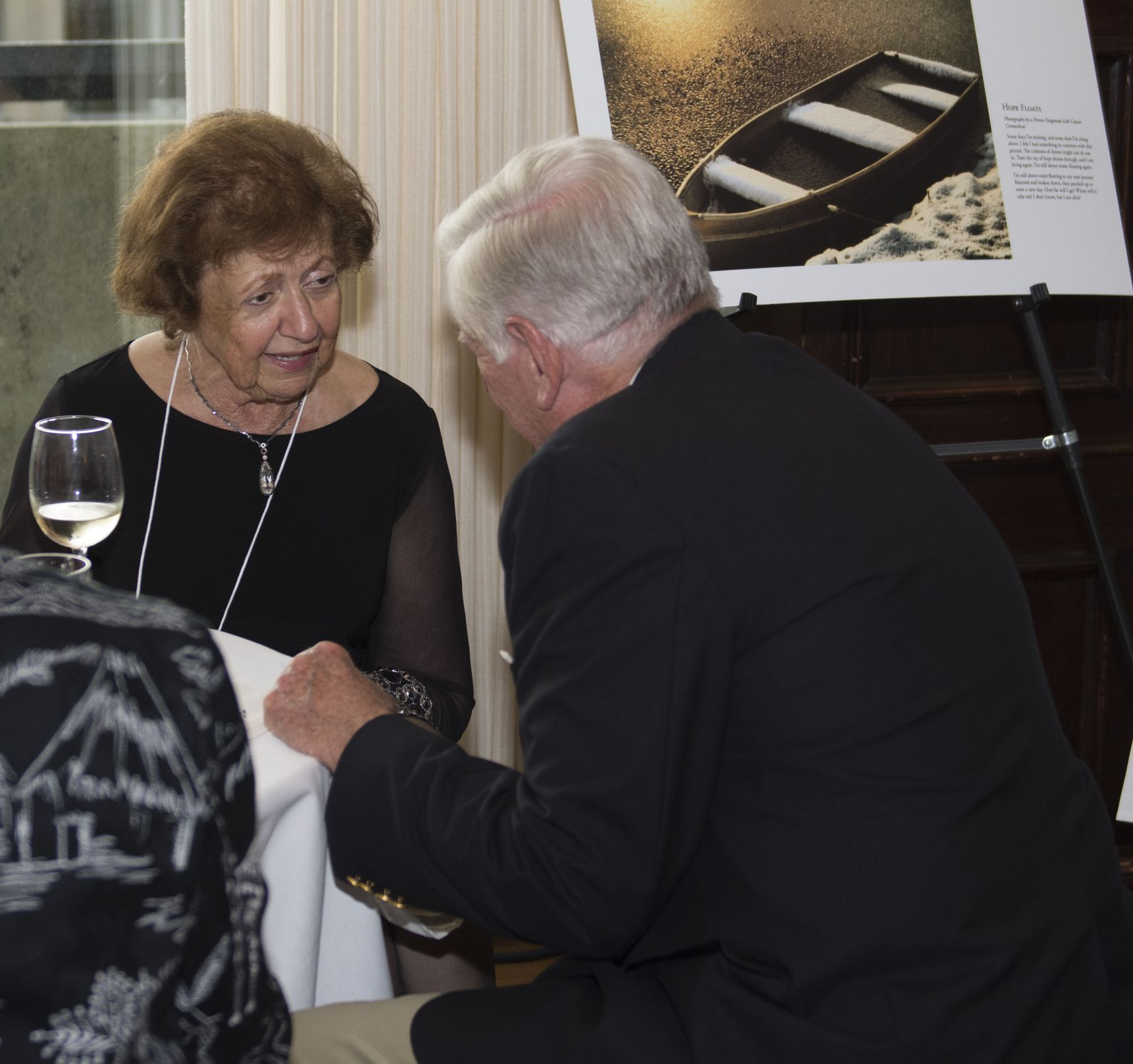 Ms. Betty Locke from California gets acquainted with Mr. Trevor Gardner of Bethesda, Marland