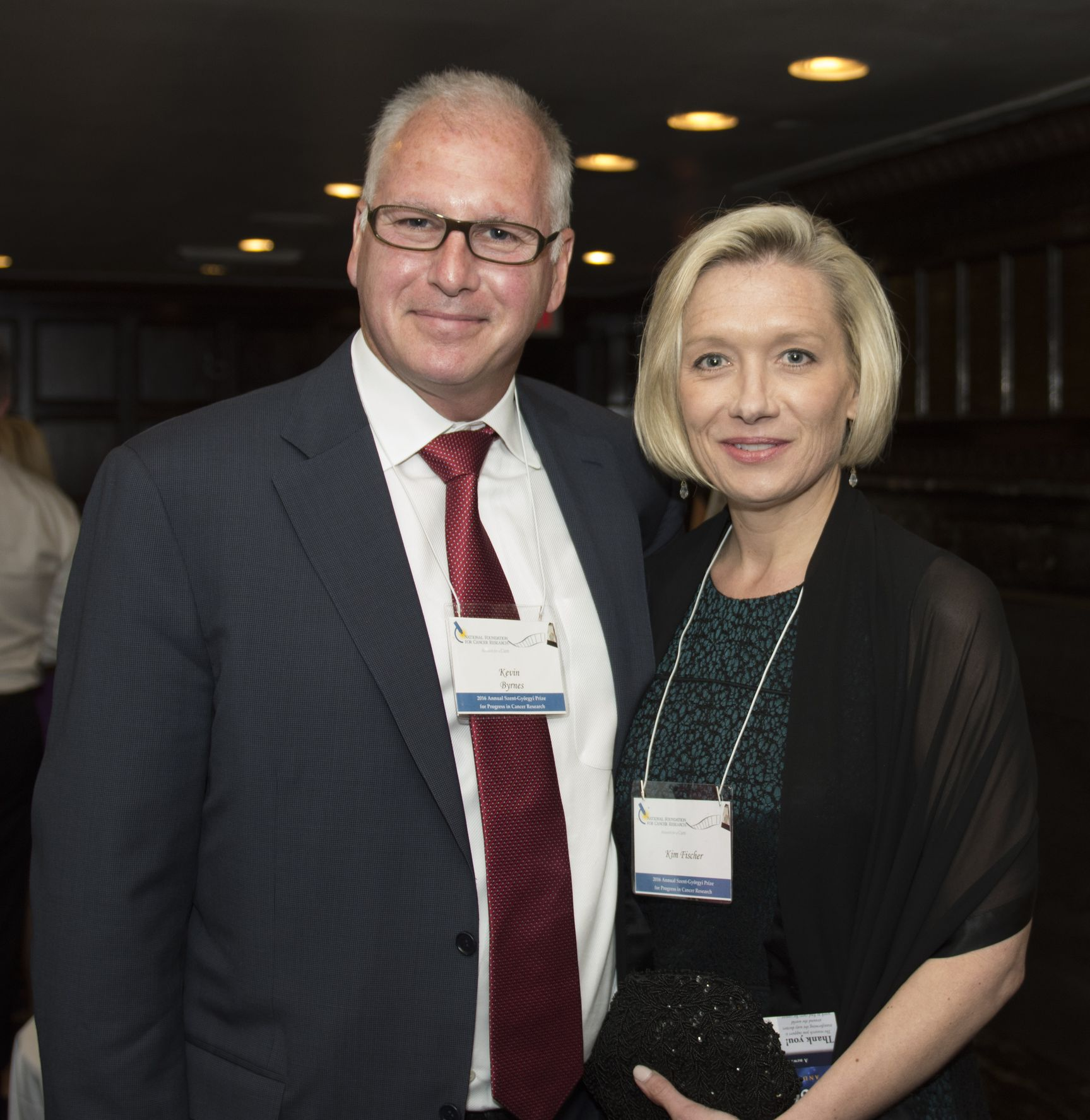 NFCR supporters, attorney Kevin Byrnes with Kim Fischer, capture a moment at the reception