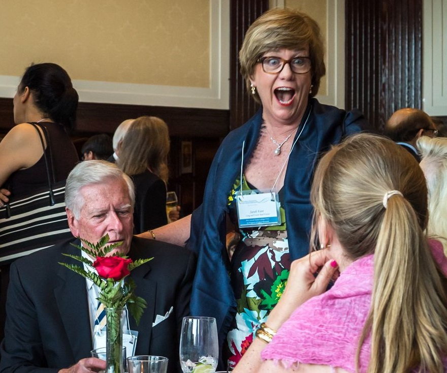 Loyal NFCR supporters share a light-hearted moment
