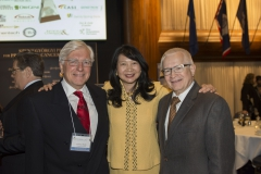 L-R, NFCR scientists, Dr. Laurence Hurley and Dr. Dan Von Hoff, together with Dr. Sujuan Ba