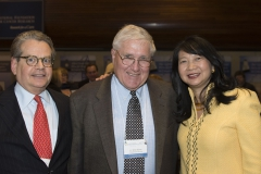 Long-time friends Franklin Salisbury, Terry Sharrer, and Dr. Sujuan Ba enjoy their reunion