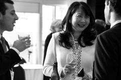 L-R, NFCR Board of Advisors Mr. Brian Vogel and Mr. Stephen Minar have a jolly exchange with NFCR President Dr. Sujuan Ba