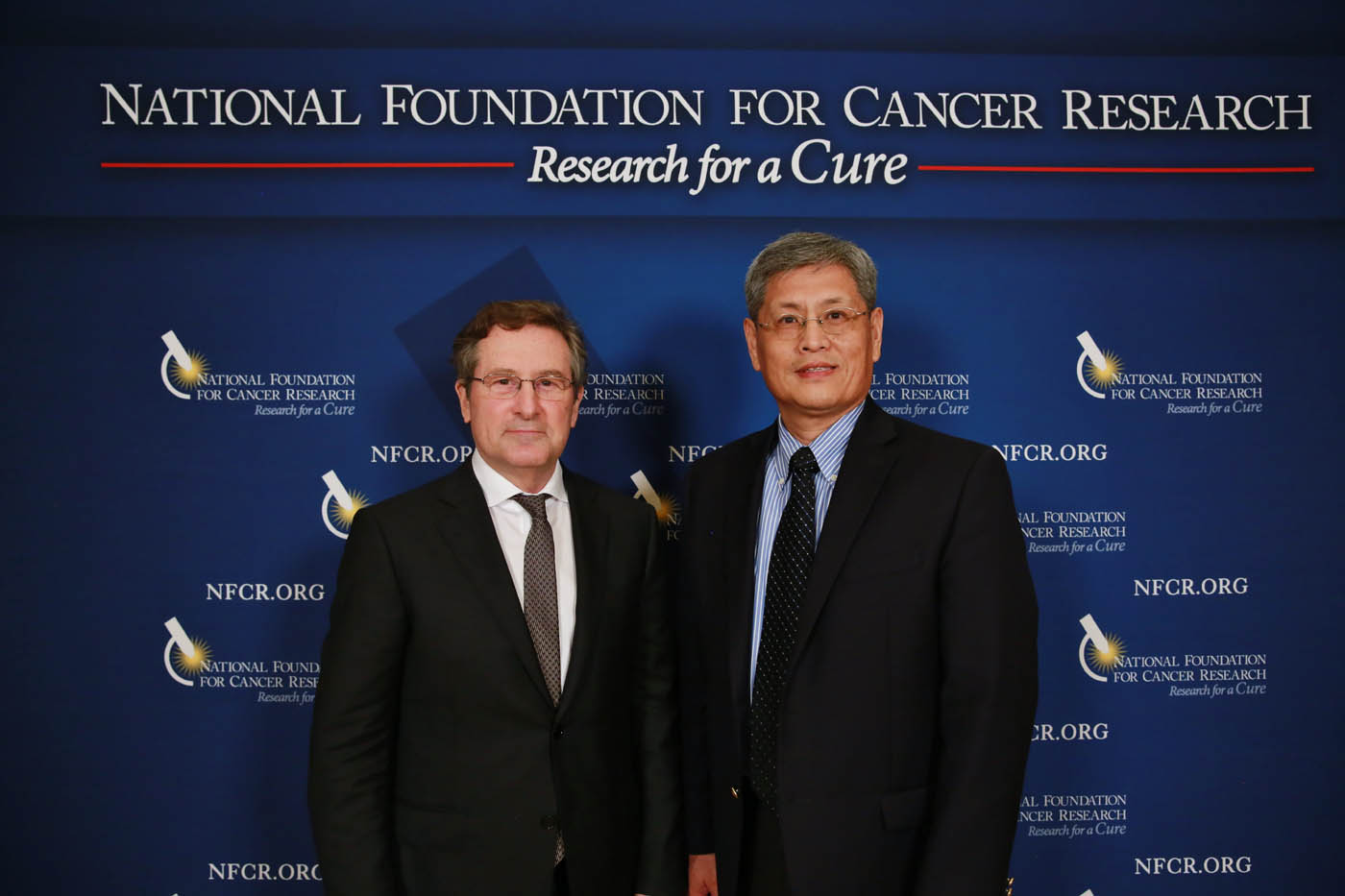 NFCR's Michael Wang with Prize Winner Michael Hall