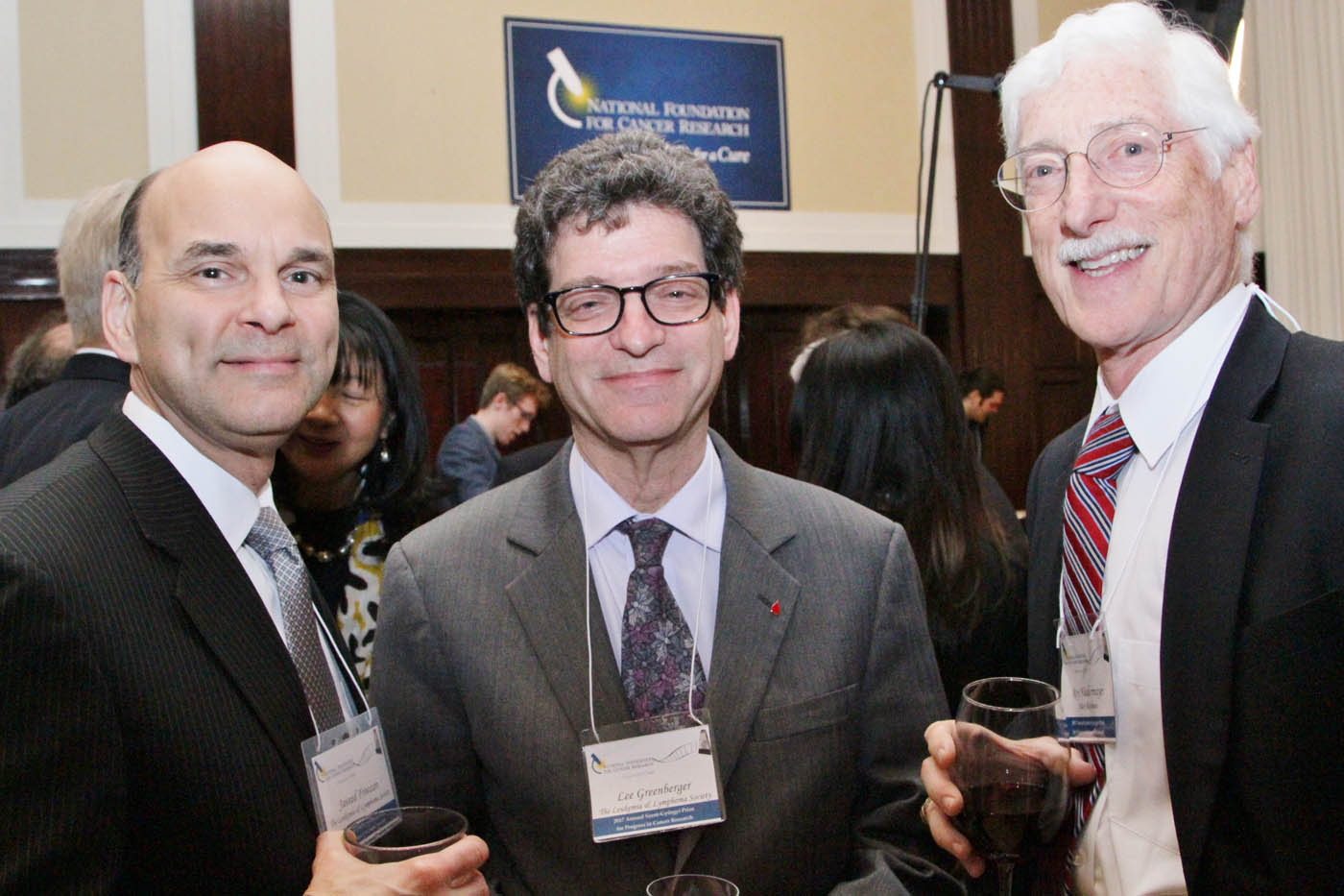 Paley Rothman's Roy Nidermayer meeting Lee Greenberger and Javeed Froozan of the Lekemia & Lymphoma Society