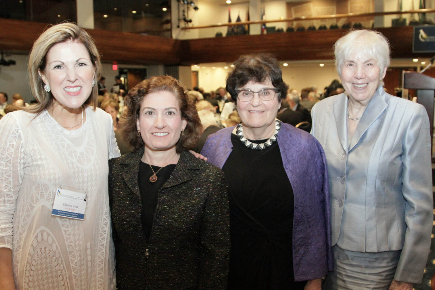 NFCR's Elaine Currie with supporters Stefanie Smith and Harriet Neschek, along with NFCR-funded scientist Dr. Susan Horwitz