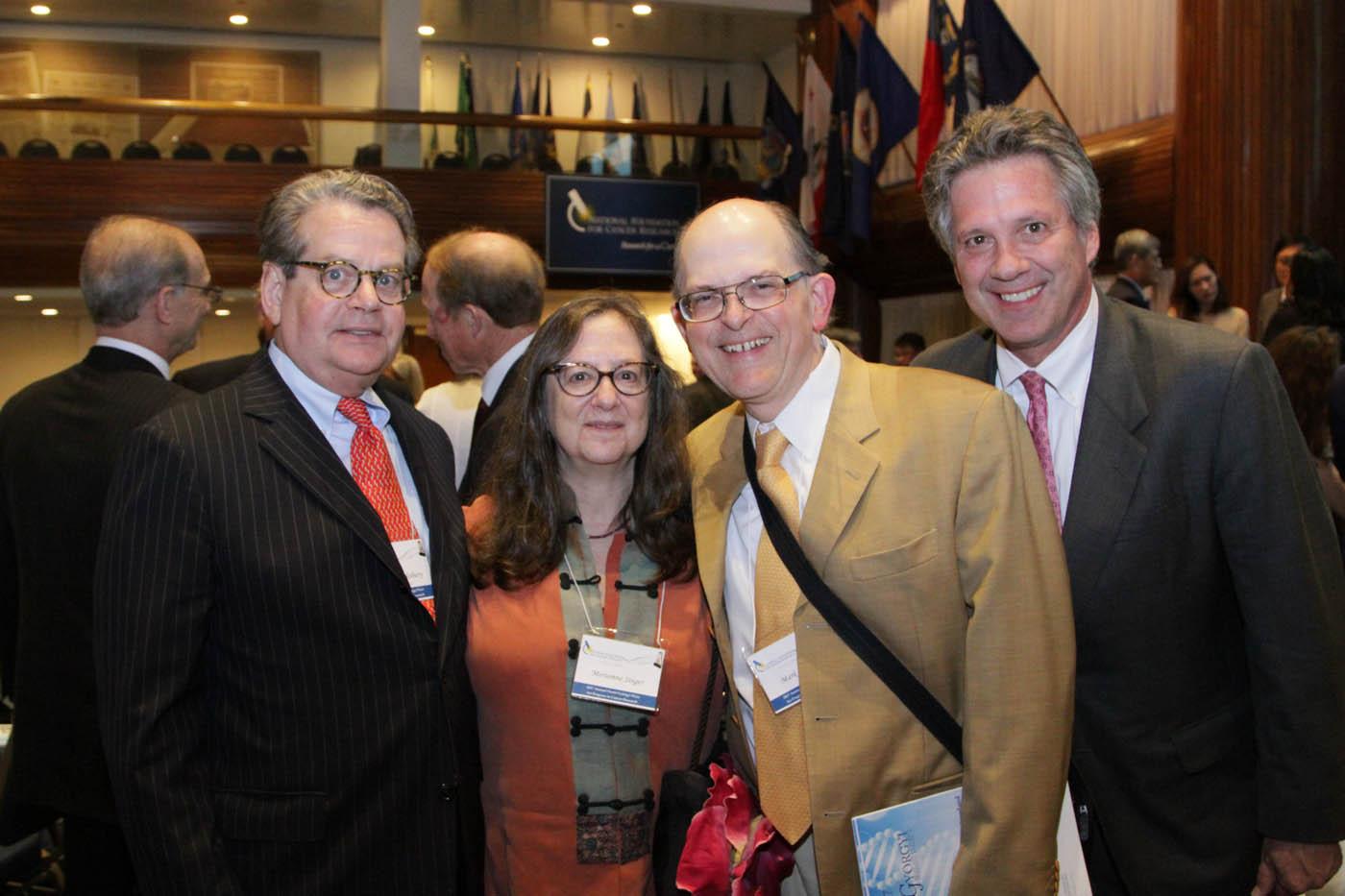 Franklin Salisbury & Dr. Bill Nelson with NFCR supporters Meriamne Singer and Mark Sorensen