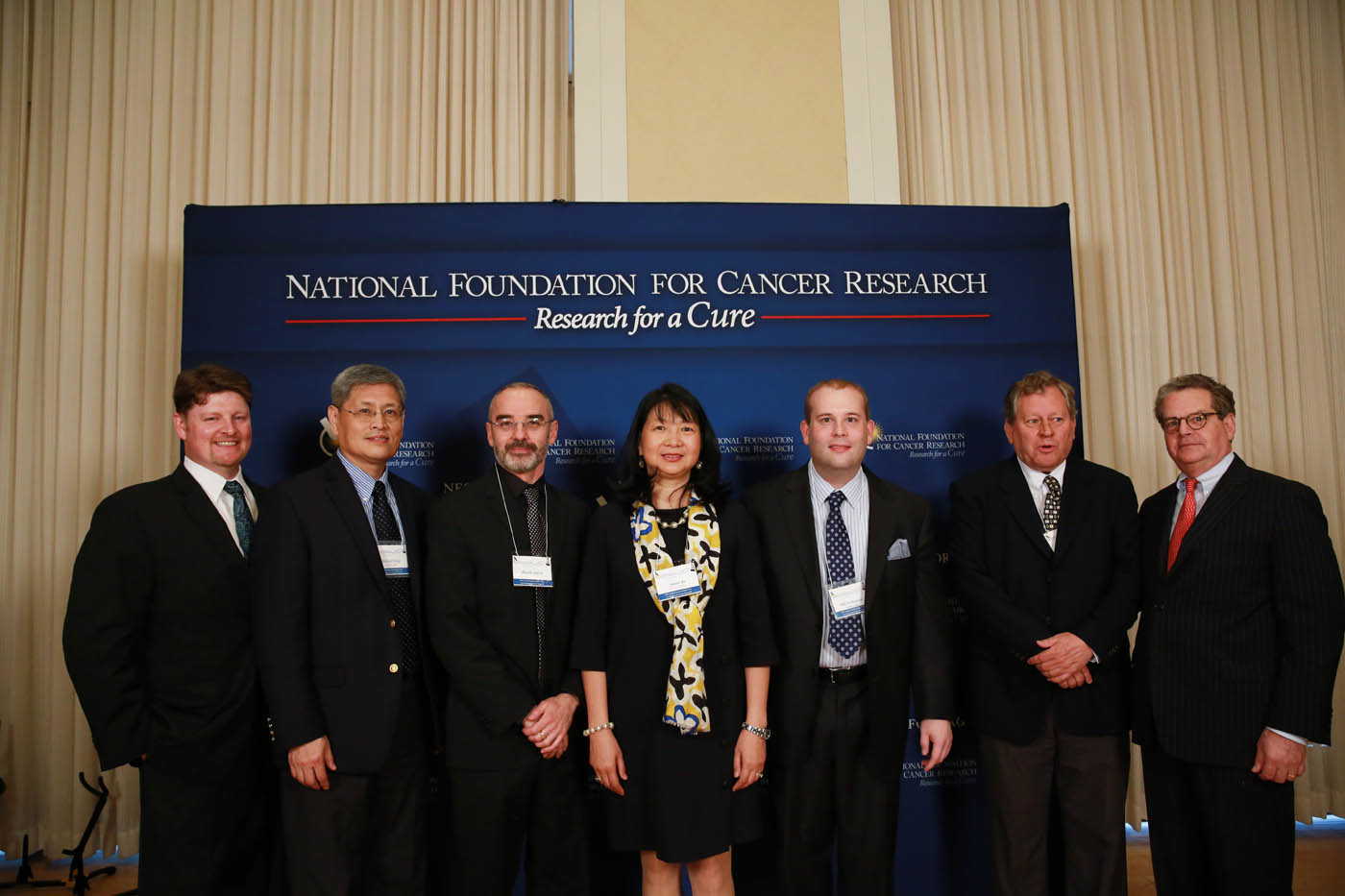 Joe Gillmer, Michael Wang, Sujuan Ba and Franklin Salisbury from NFCR with Ricardo Garcia, Bill Werkmeister, and Web Cavanee