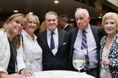 Jack Quinn and Bruce Shirk surrounded by the ladies of Daffodils & Diamonds – Caroline Cole, Betsy Walker Lamond and Nancy Cole