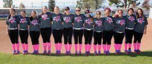 West HIlls College Softball pink game