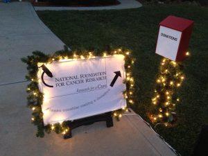 holiday lights donation box