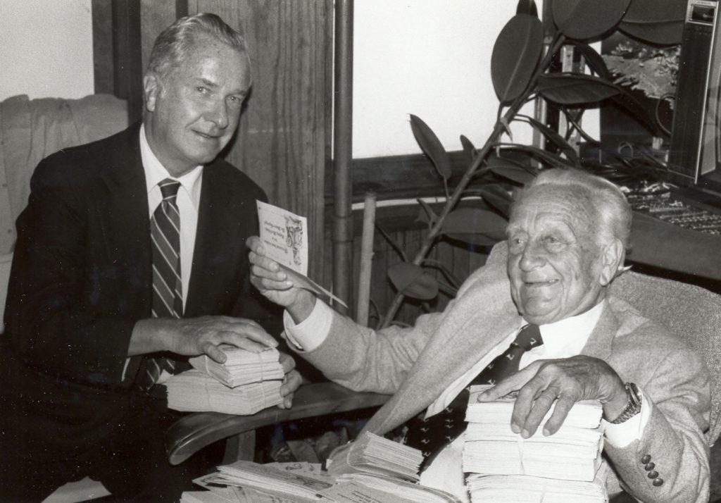 Franklin Salisbury and Dr. Albert von Szent-Györgyi in 1982