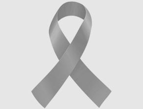 Silver Brain Cancer Ribbon
