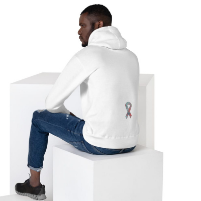 Fly to Find a Cure Raider Originals white hoodie