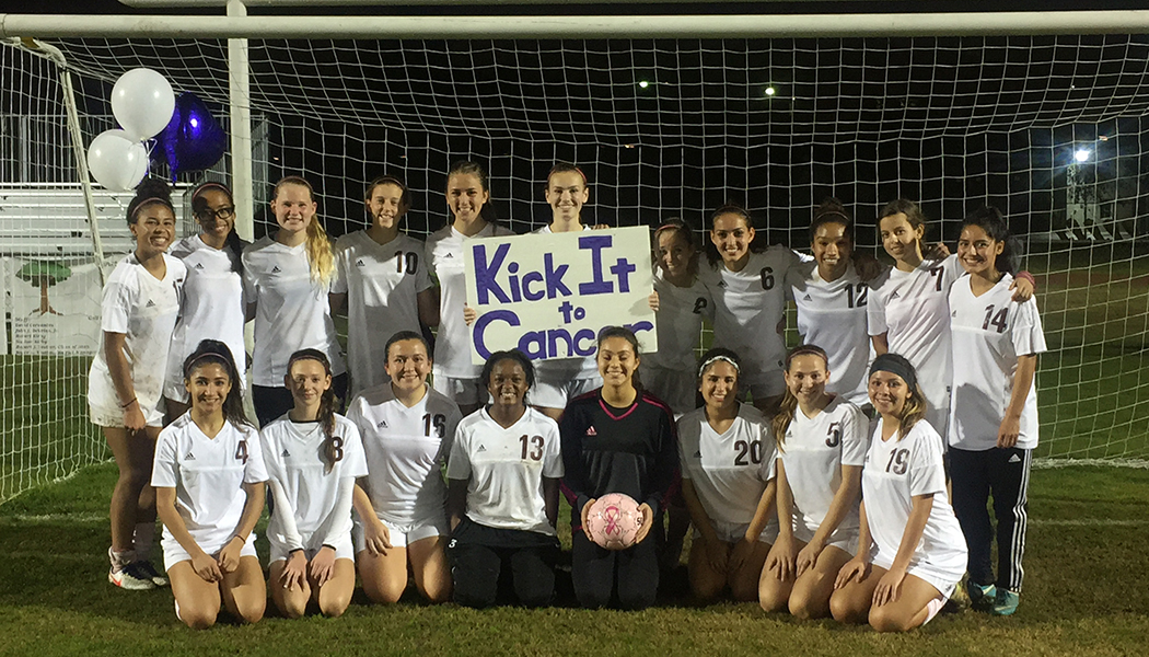 Valley Christian Girl's Soccer Kick it To Cancer