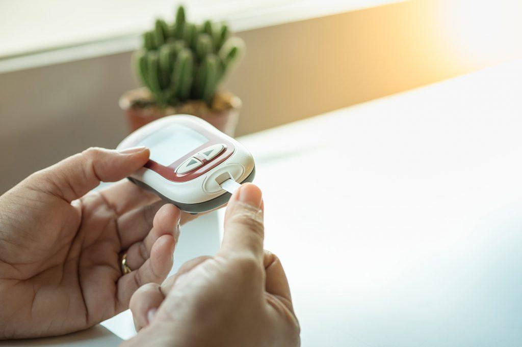 Finger prick blood sugar test