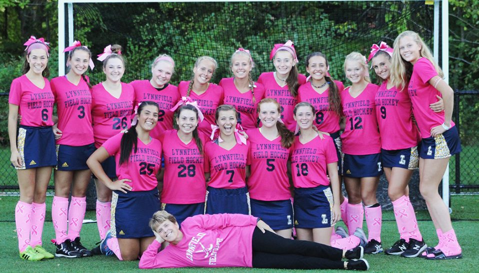 Lynnfield field hockey cancer awareness game