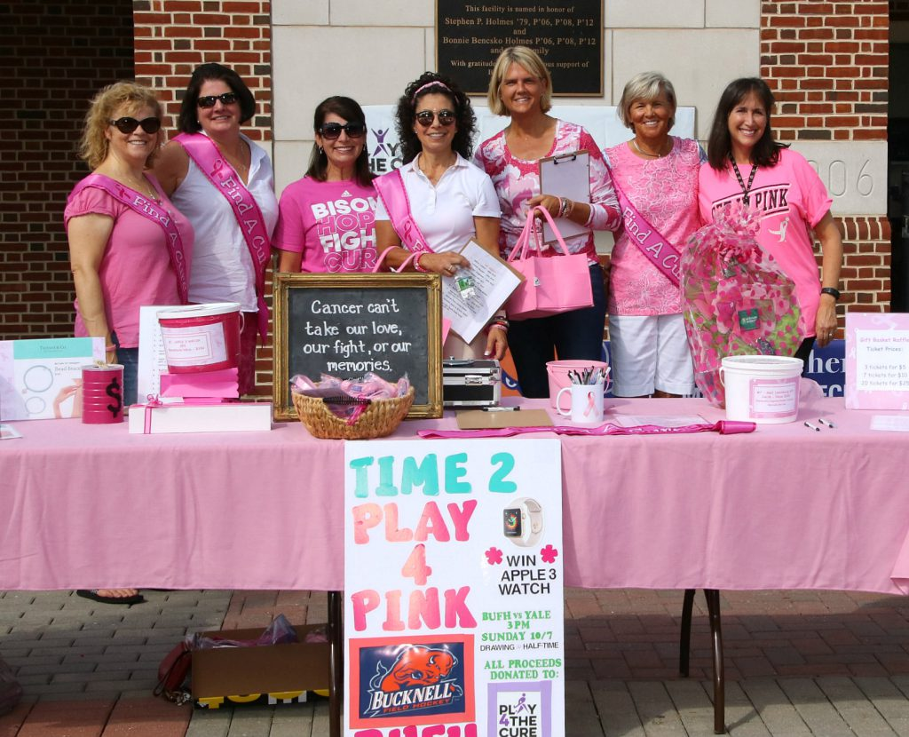 Field Hockey Team Moms Decked out in Pink host a charity and raffle for breast cancer