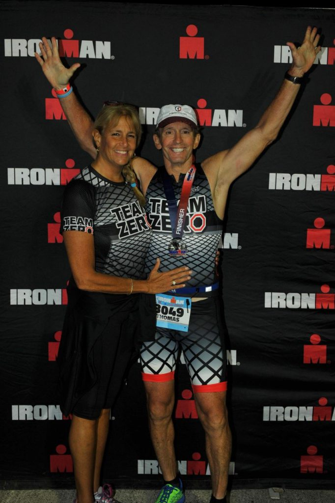 Tom Hulsey competes at an iron man event