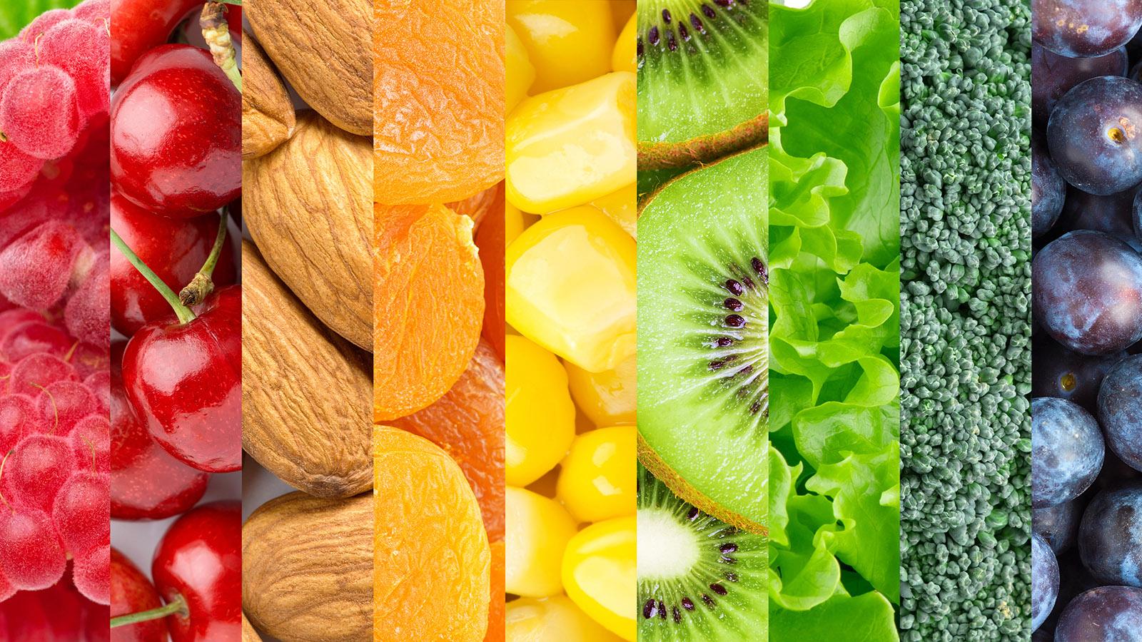 Healthy Foods.Rainbow.Background HPB