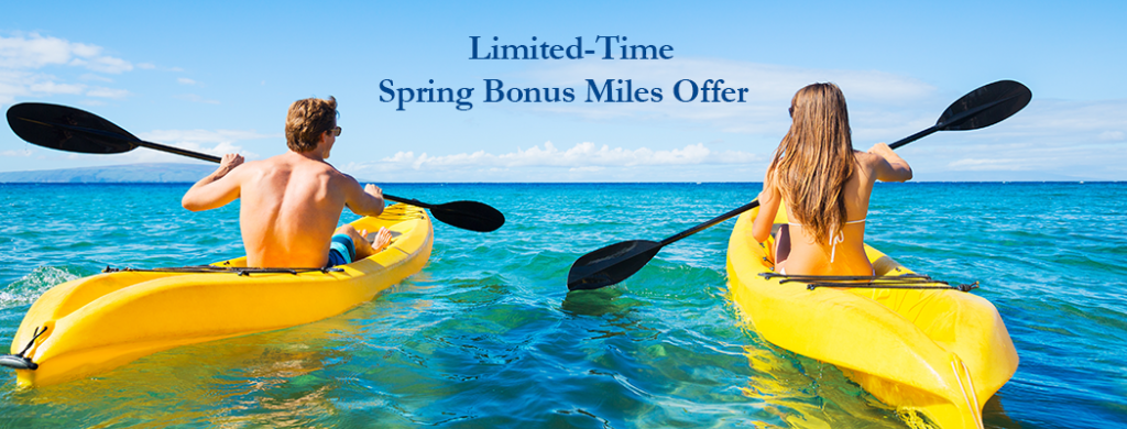 Kayaking into spring