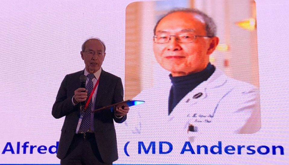 W.K. Alfred Yung on stage at SNO China