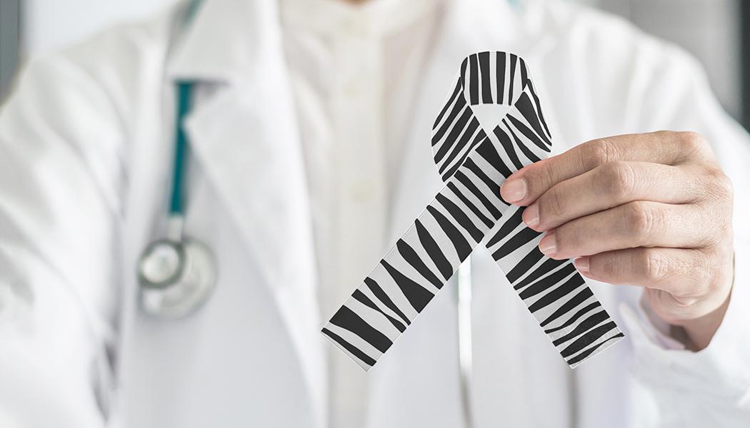 Carcinoid Cancer awareness ribbon