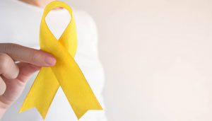 Gold Pediatric Cancer Ribbon