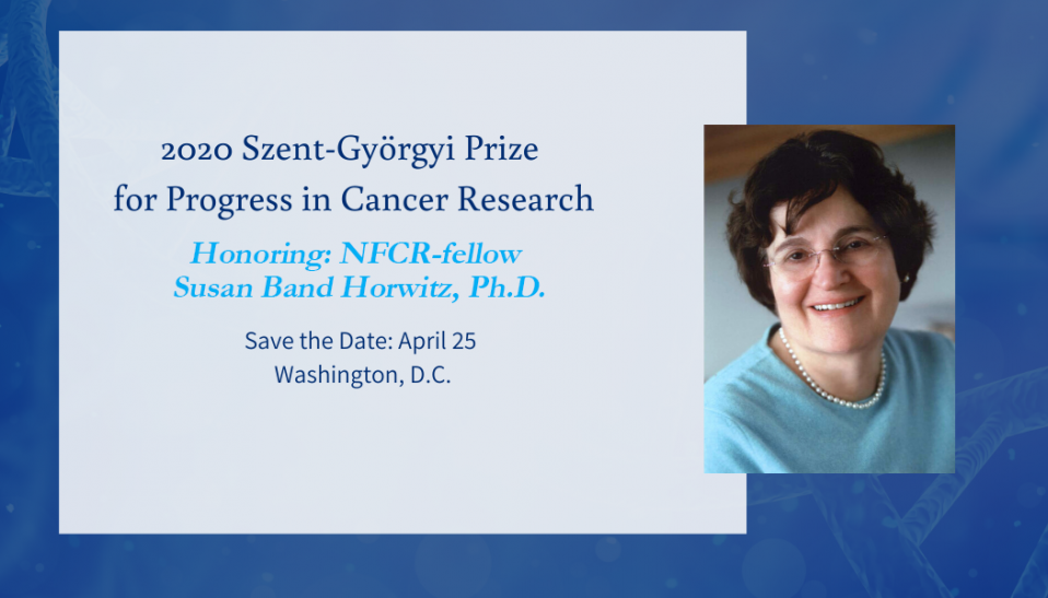 2020 Szent-Györgyi Prize for Progress in Cancer Research Horwitz