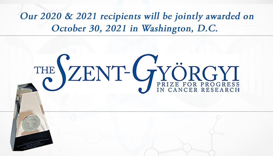 2021 Szent-Gyorgyi Prize Invitation