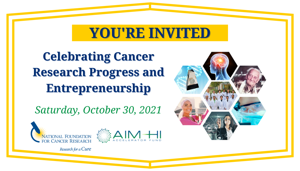 Celebrating Cancer Research Progress and Entrepreneurship Feature Image for Blog Invite