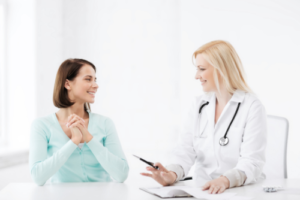 Doctor and Patient Discuss Treatment