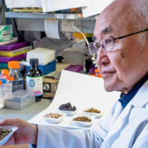 Photo, Yung-Chi-Cheng in lab with botanicals Press-Release-680x380_1