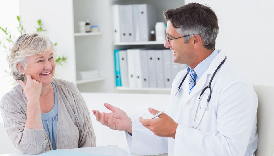Patient and Doctor Discuss Cancer Clinical Trials