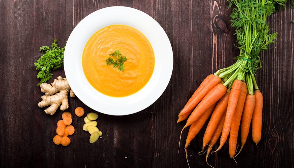 Anti Cancer Carrots and Ginger Soup