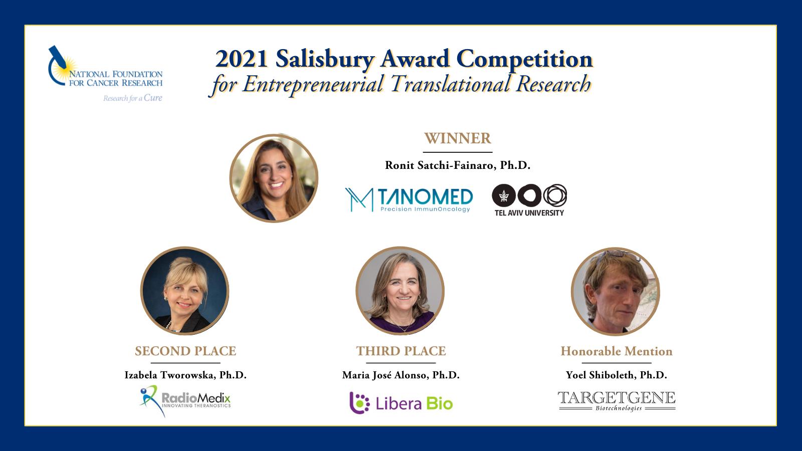 2021 Salisbury Award Winners